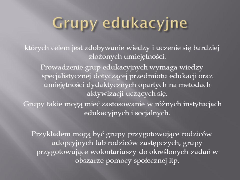 Grupy edukacyjne