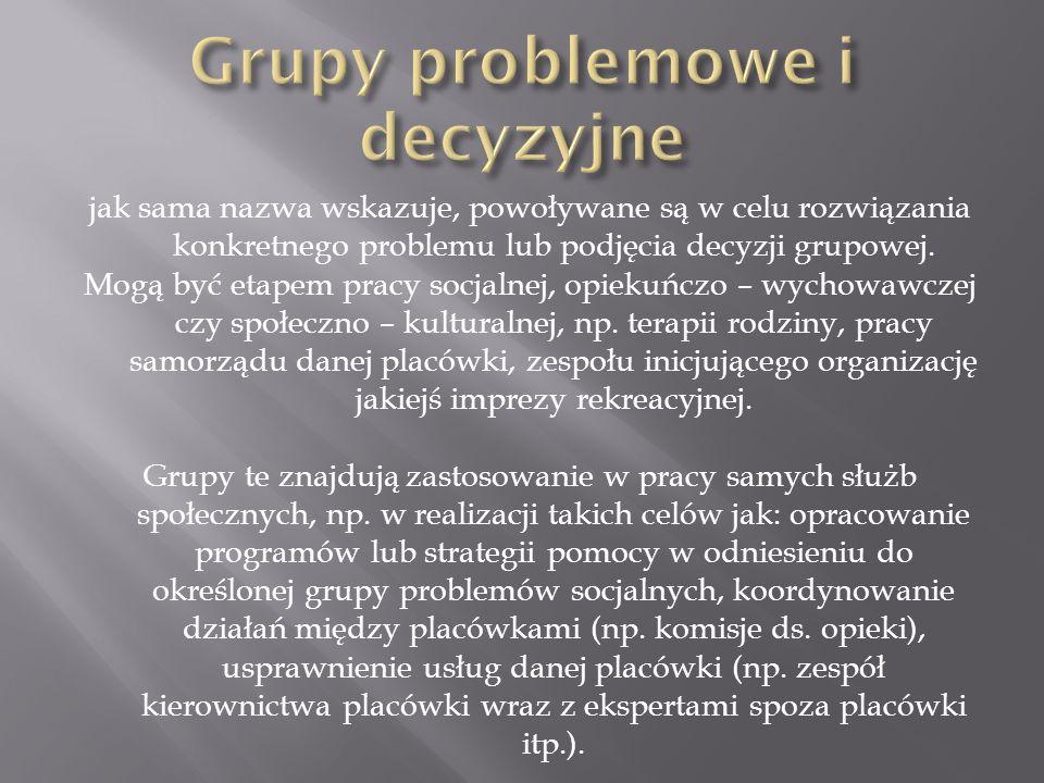 Grupy problemowe i decyzyjne