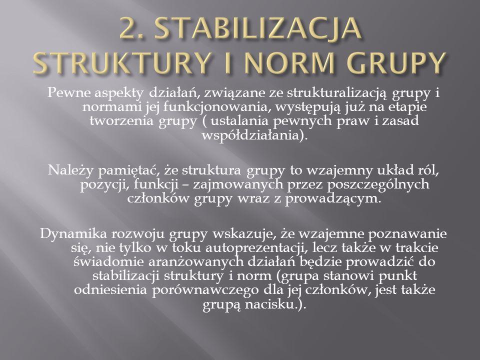 2. STABILIZACJA STRUKTURY I NORM GRUPY