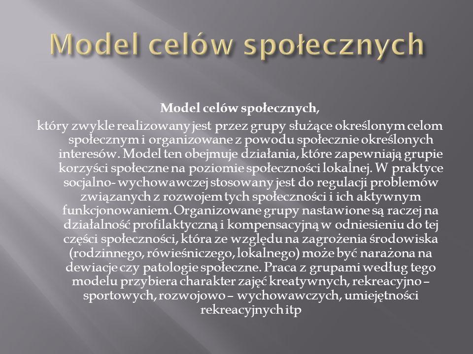 Model celów społecznych