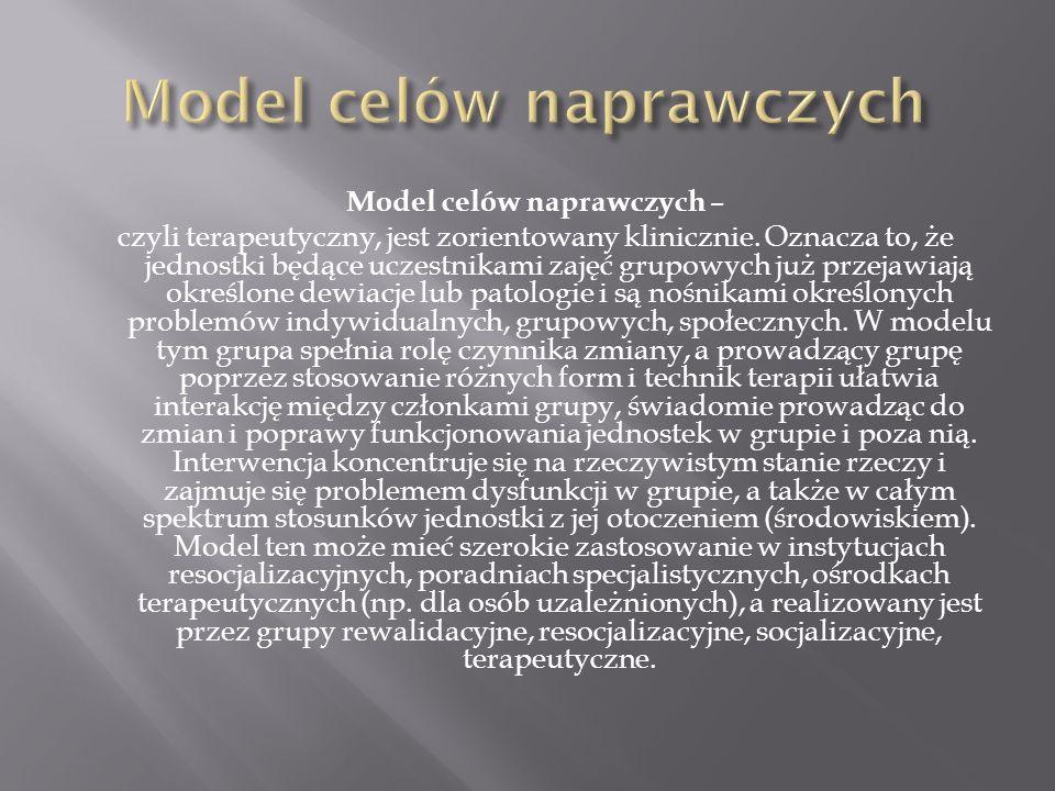 Model celów naprawczych