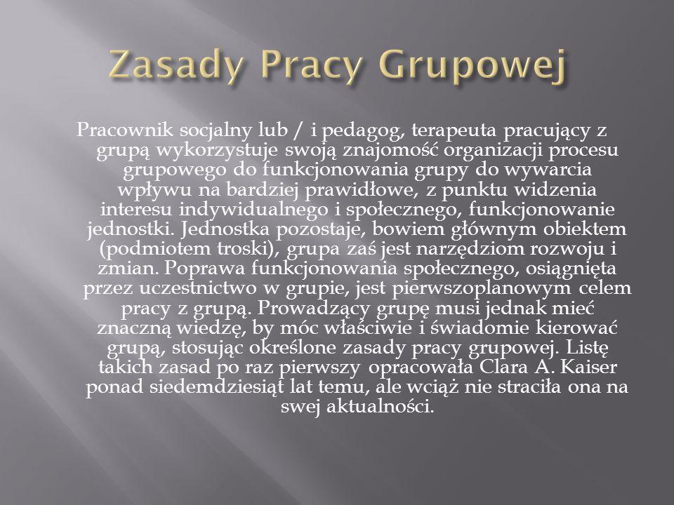 Zasady Pracy Grupowej