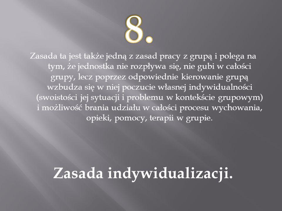 Zasada indywidualizacji.
