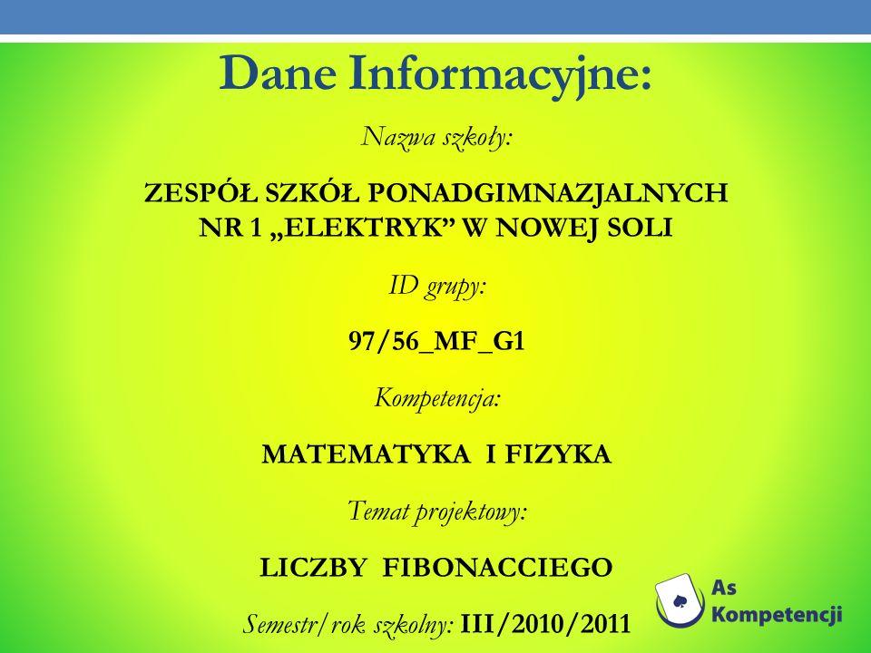 Dane Informacyjne: