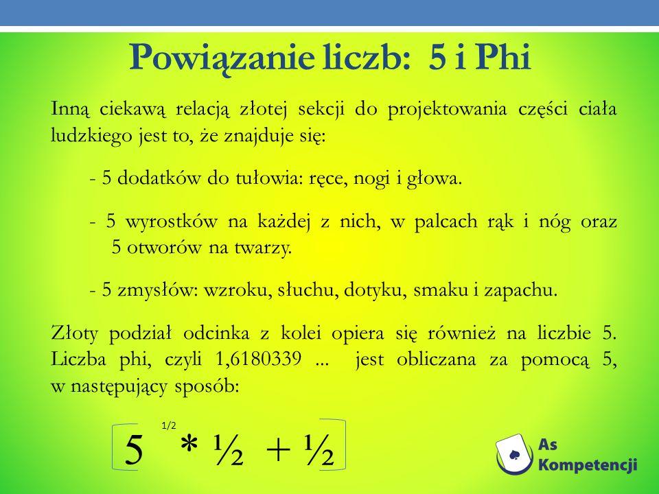 Powiązanie liczb: 5 i Phi