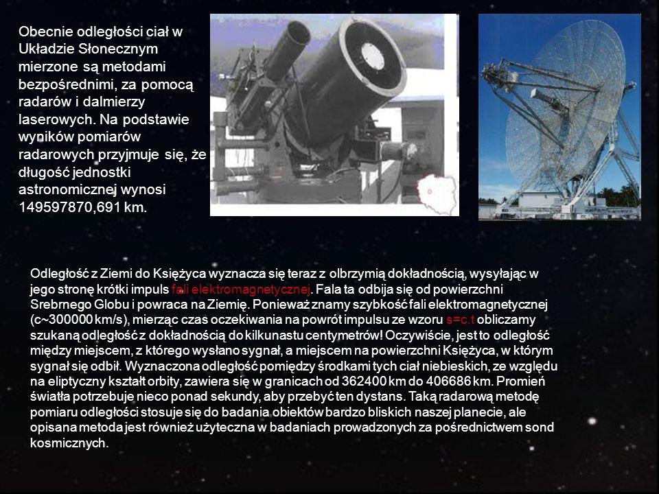 Obecnie odległości ciał w Układzie Słonecznym mierzone są metodami bezpośrednimi, za pomocą radarów i dalmierzy laserowych. Na podstawie wyników pomiarów radarowych przyjmuje się, że długość jednostki astronomicznej wynosi 149597870,691 km.