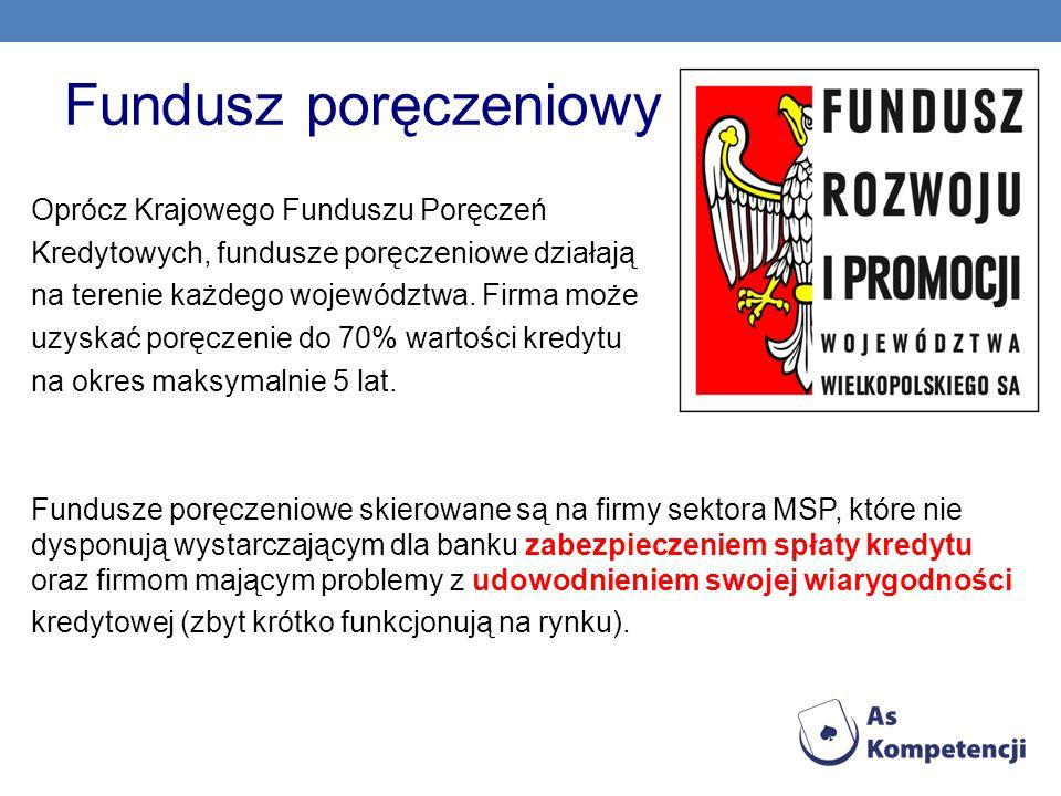 Fundusz poręczeniowy Oprócz Krajowego Funduszu Poręczeń
