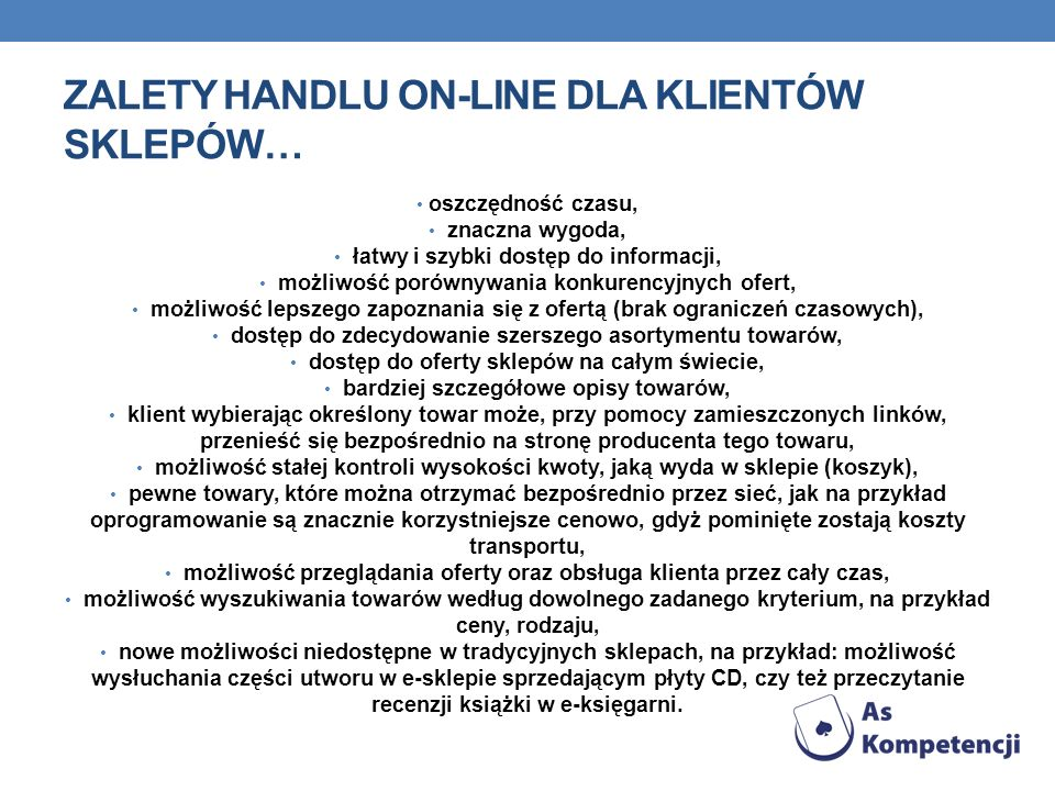 Zalety handlu on-line dla klientów sklepów…