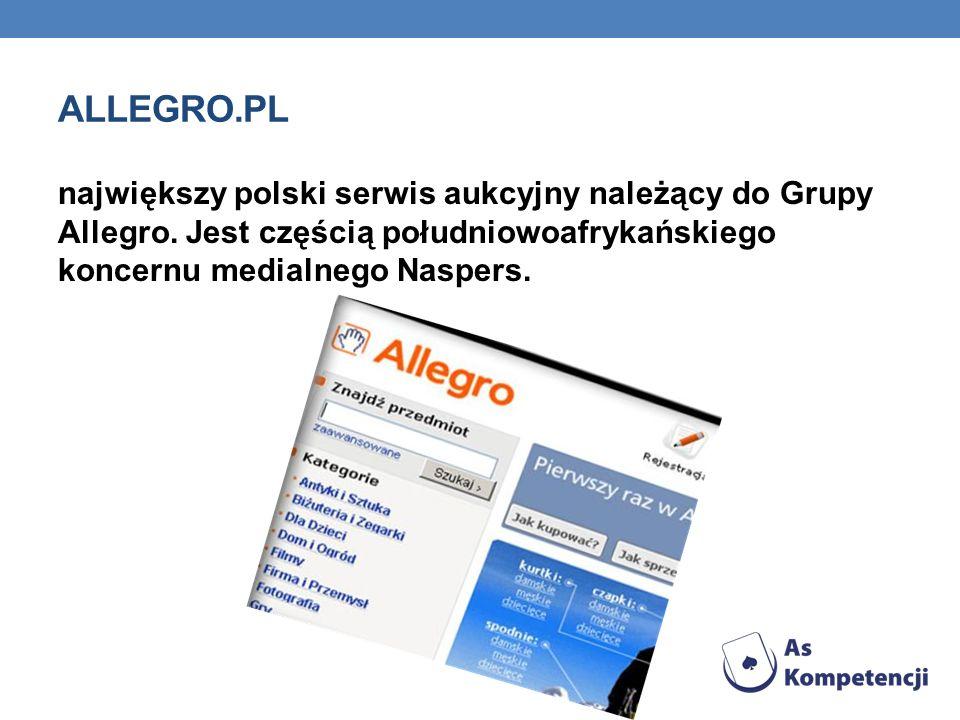 Allegro.pl największy polski serwis aukcyjny należący do Grupy Allegro.