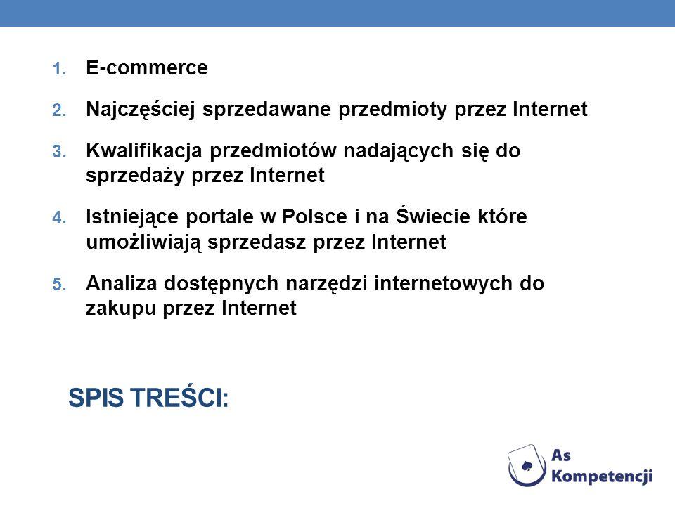 Spis treści: E-commerce