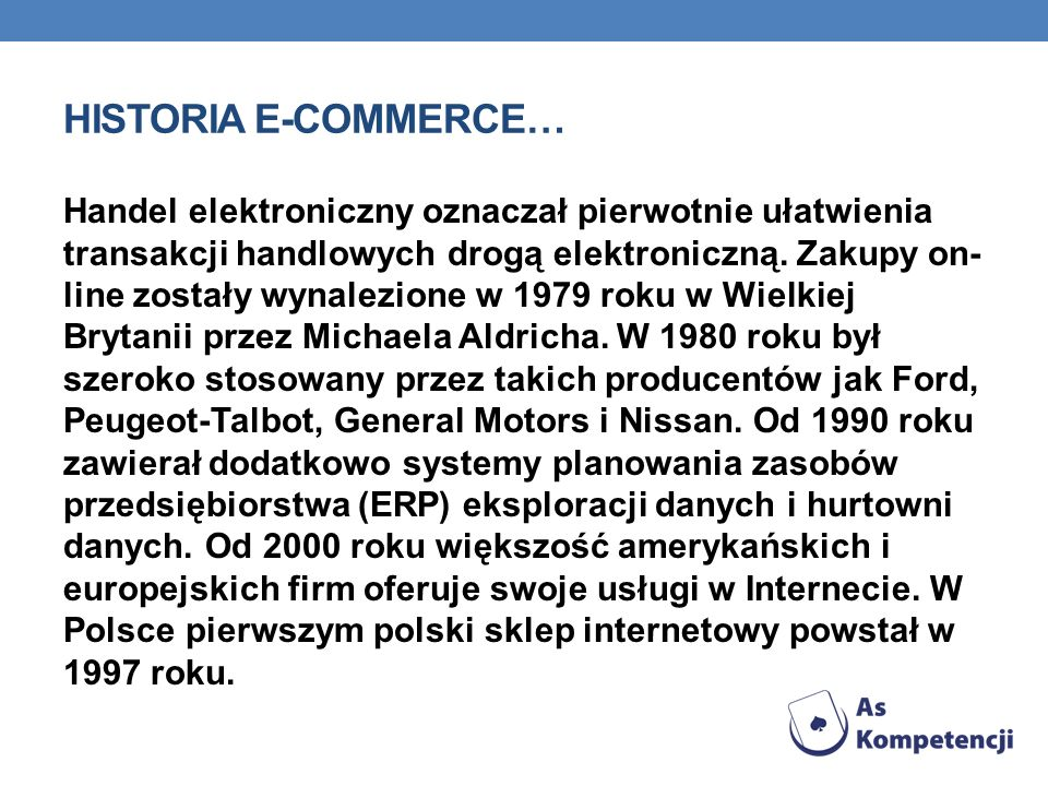 Historia e-commerce…
