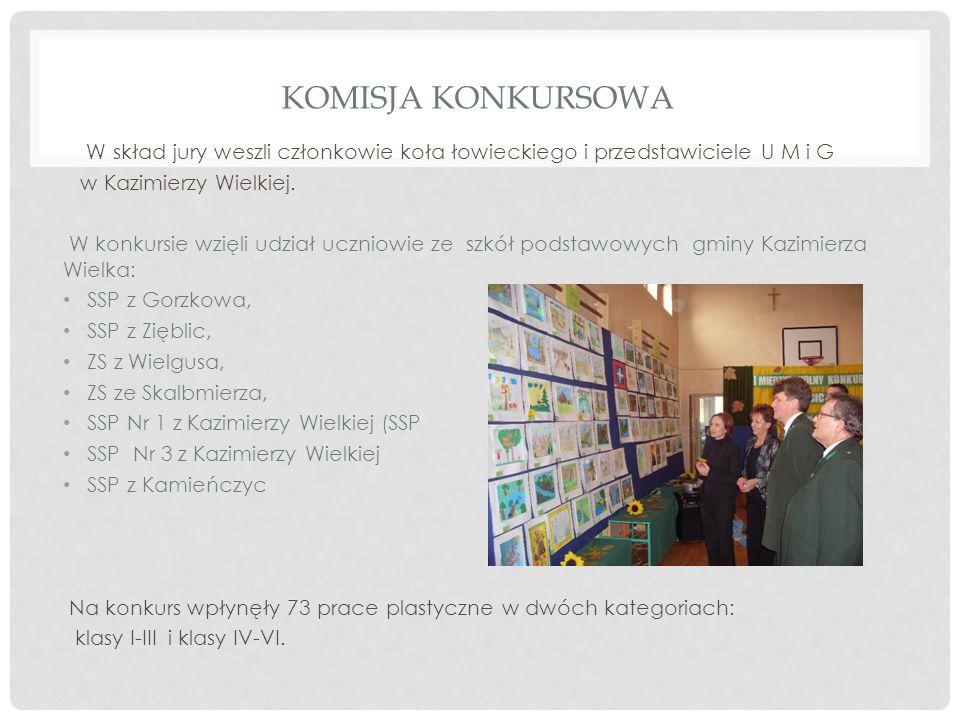 Komisja Konkursowa W skład jury weszli członkowie koła łowieckiego i przedstawiciele U M i G. w Kazimierzy Wielkiej.