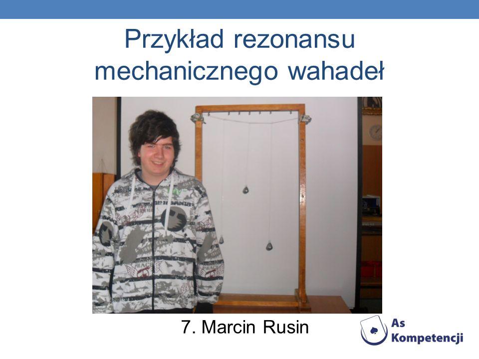 Przykład rezonansu mechanicznego wahadeł