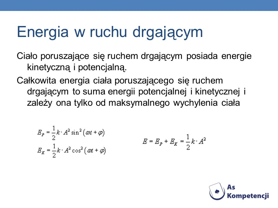 Energia w ruchu drgającym