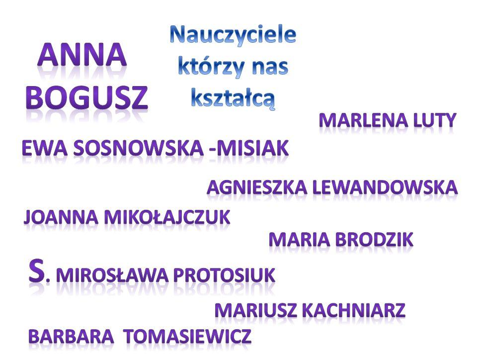 Nauczyciele którzy nas kształcą Agnieszka Lewandowska