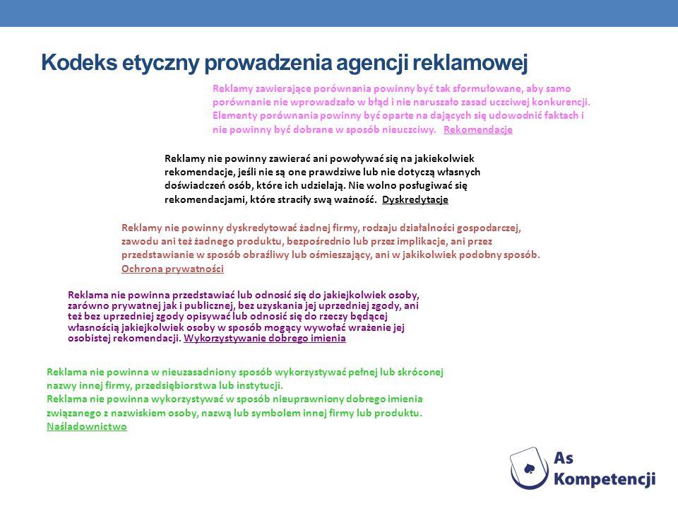 Kodeks etyczny prowadzenia agencji reklamowej