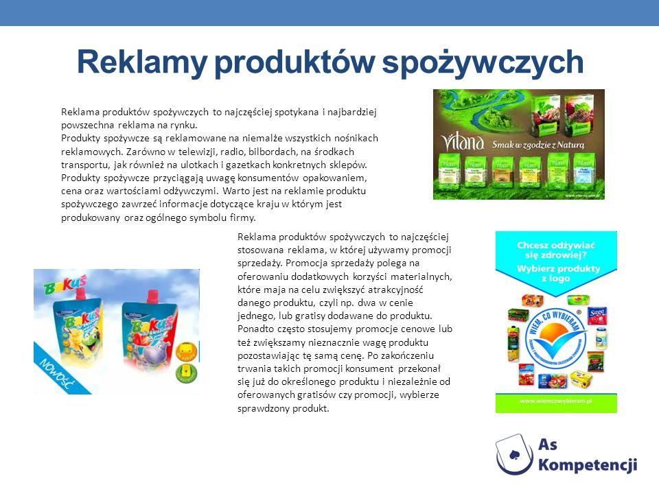 Reklamy produktów spożywczych