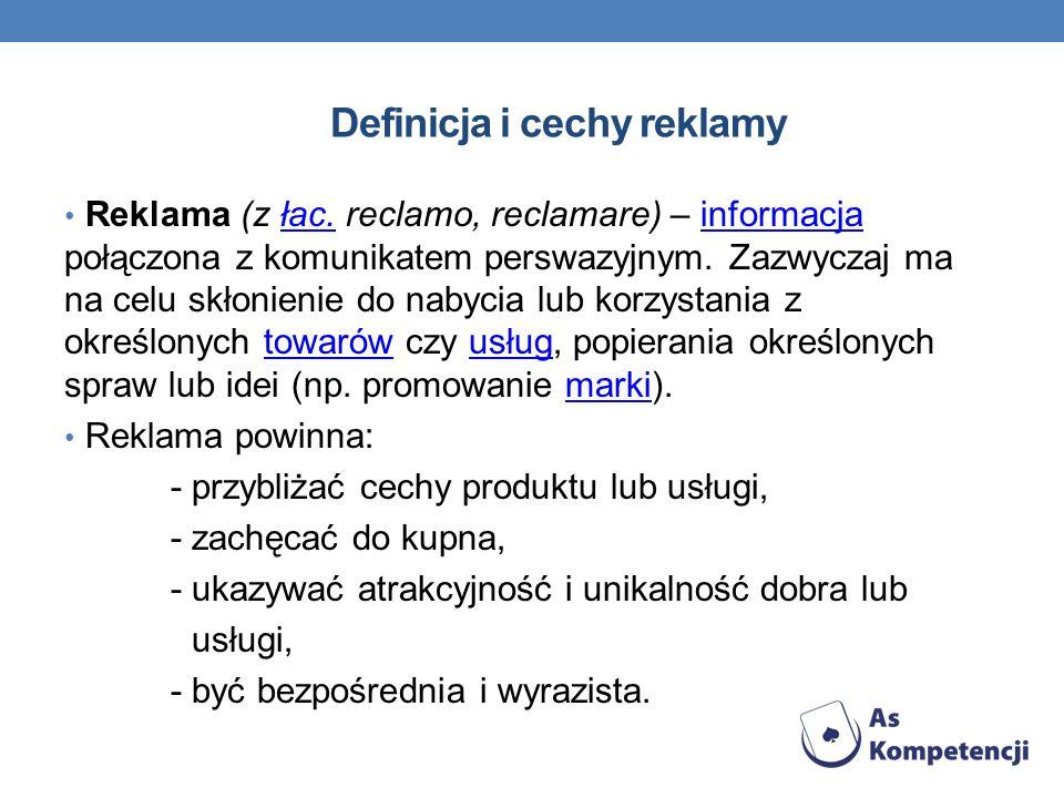 Definicja i cechy reklamy