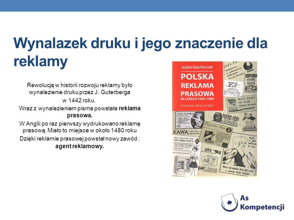 Wynalazek druku i jego znaczenie dla reklamy