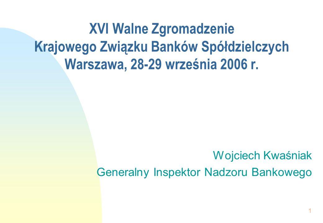 2017-03-26XVI Walne Zgromadzenie Krajowego Związku Banków Spółdzielczych Warszawa, 28-29 września 2006 r.