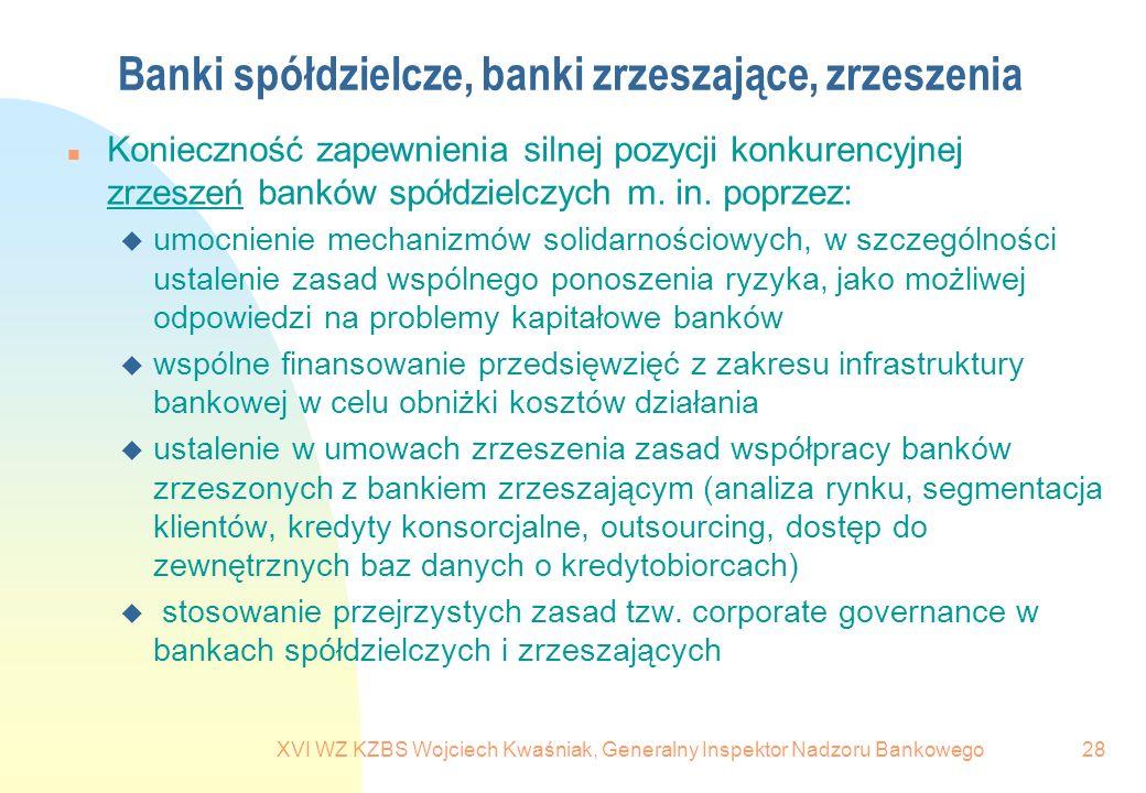 Banki spółdzielcze, banki zrzeszające, zrzeszenia