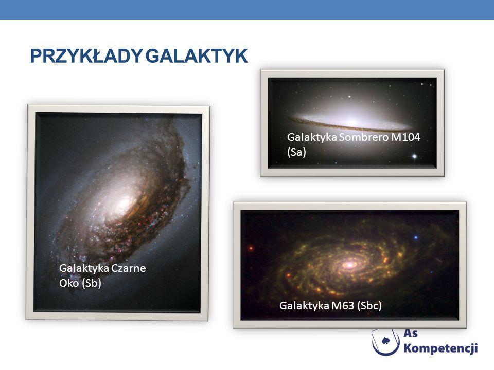 Przykłady galaktyk Galaktyka Sombrero M104 (Sa)