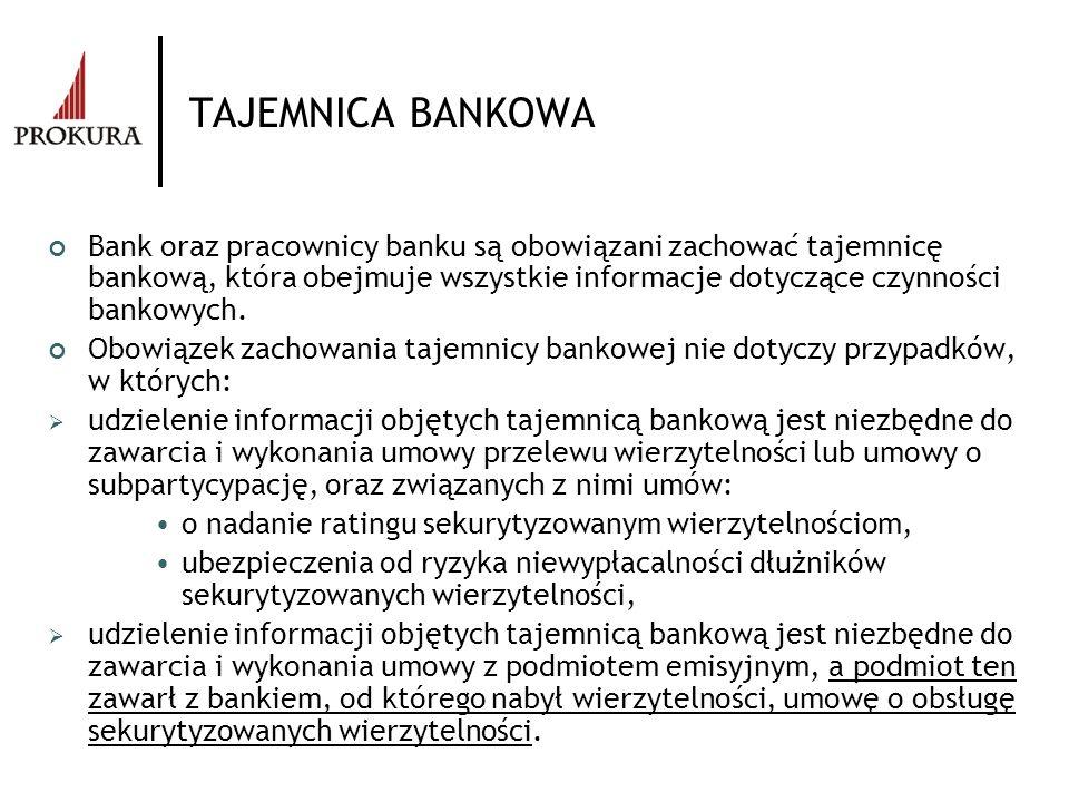 TAJEMNICA BANKOWA