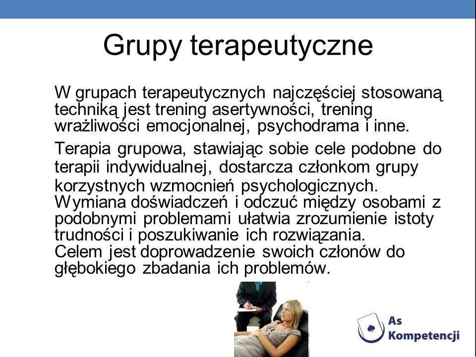 Grupy terapeutyczne