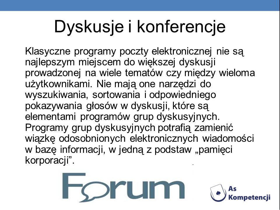 Dyskusje i konferencje