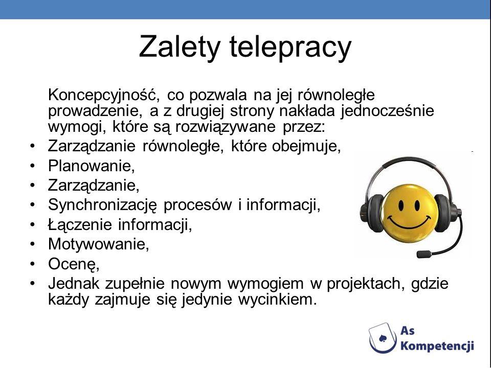 Zalety telepracy