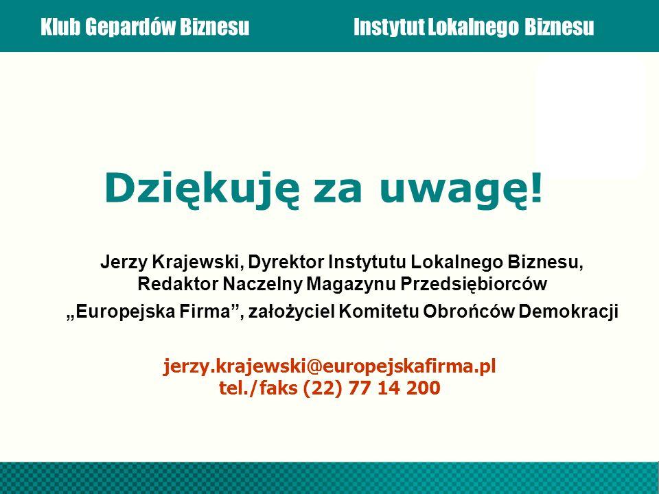 """""""Europejska Firma , założyciel Komitetu Obrońców Demokracji"""