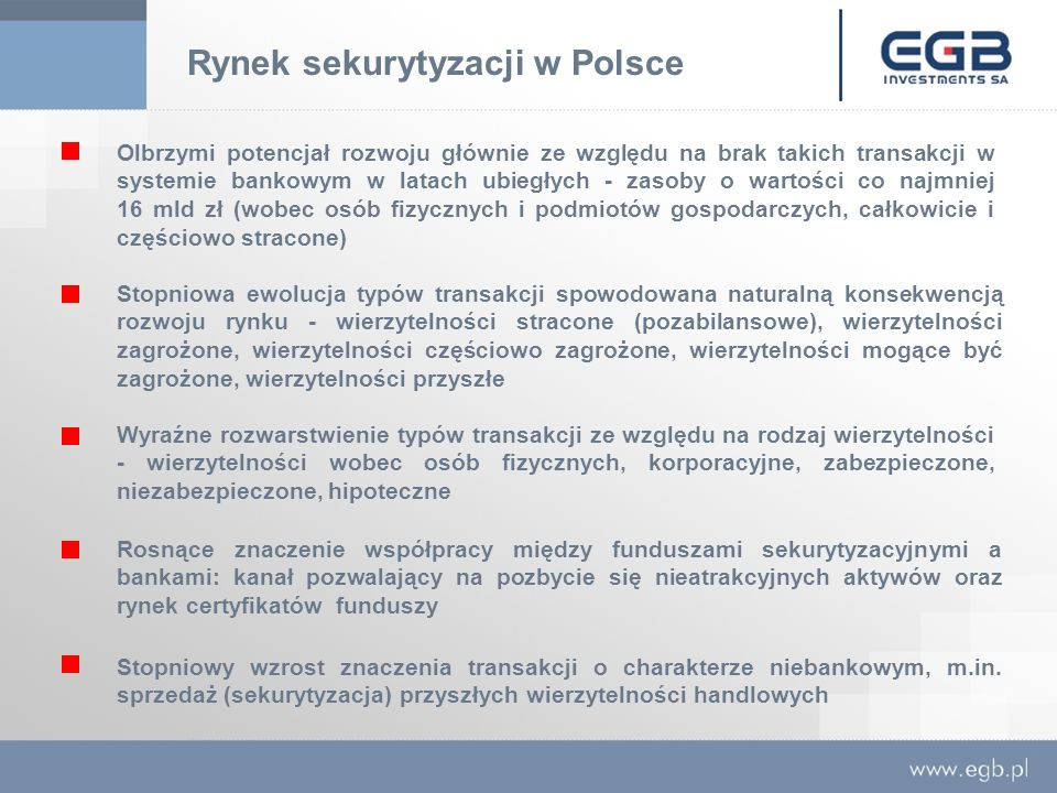 Rynek sekurytyzacji w Polsce