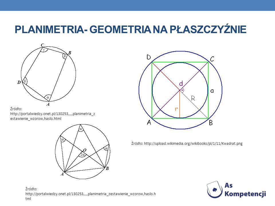 Planimetria- geometria na płaszczyźnie