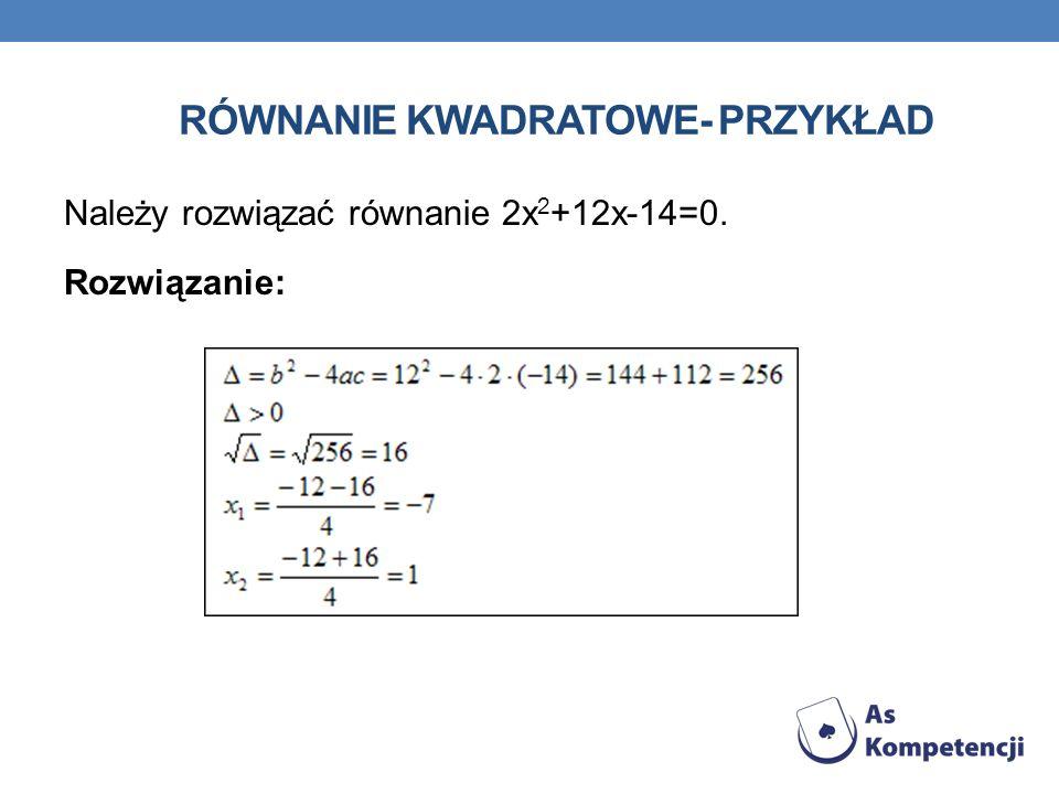 Równanie kwadratowe- przykład