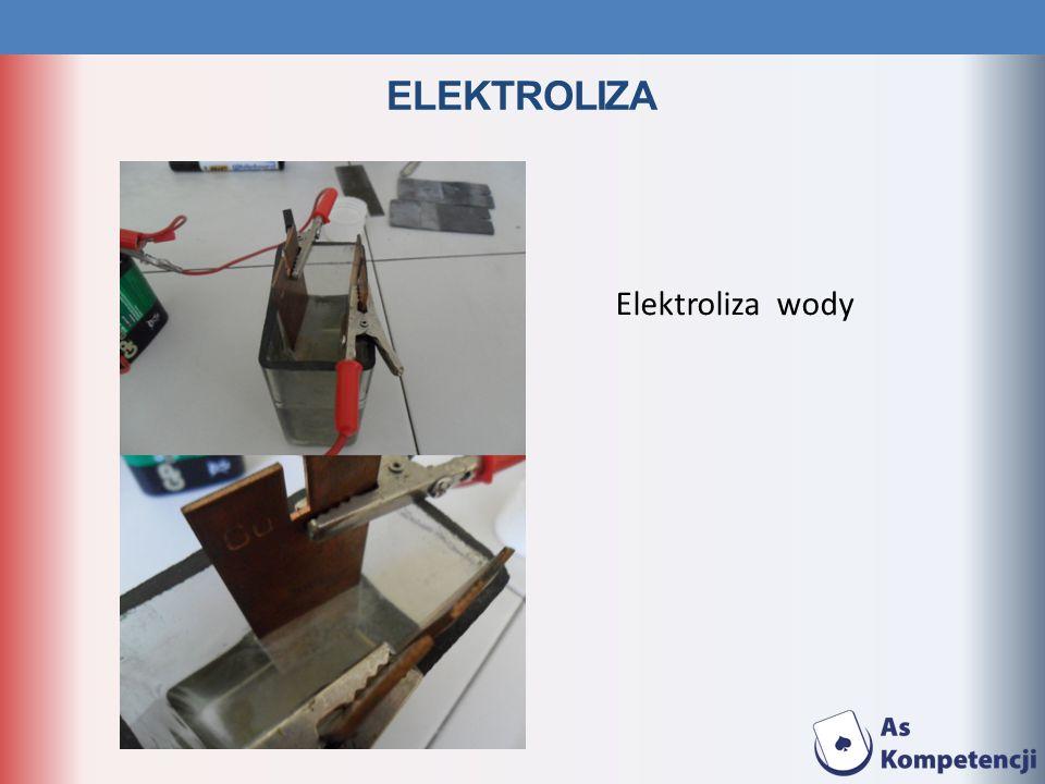 ELEKTROLIZA Elektroliza wody