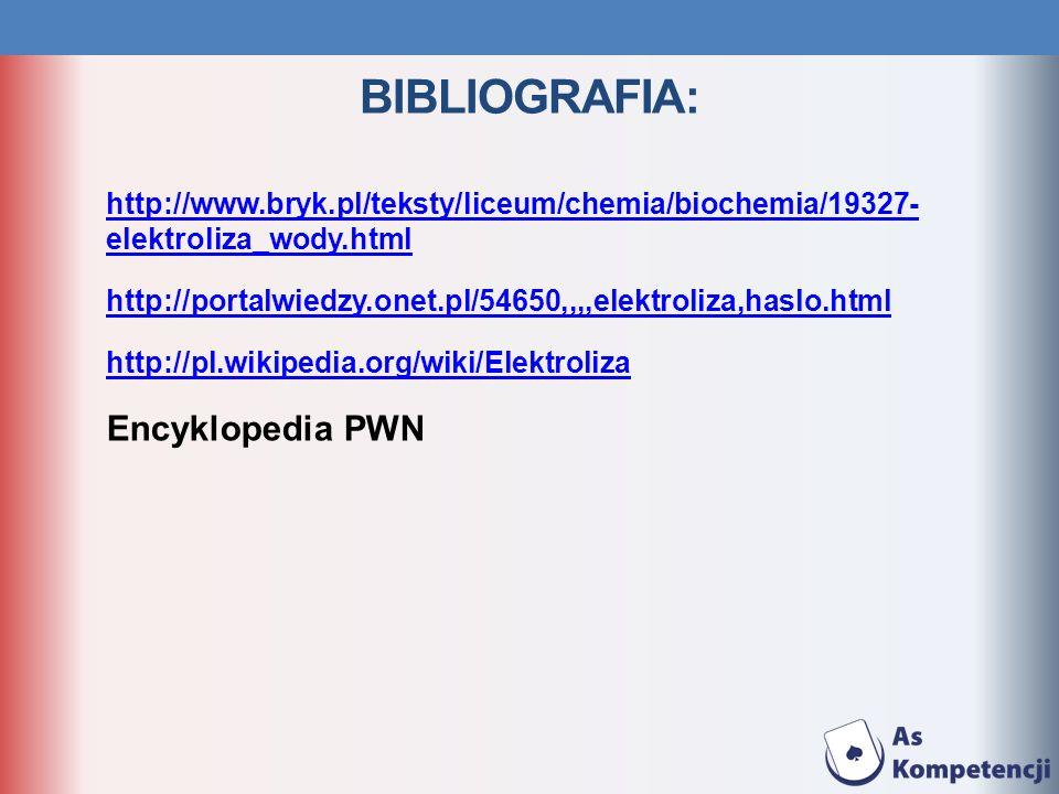 BIBLIOGRAFIA: Encyklopedia PWN