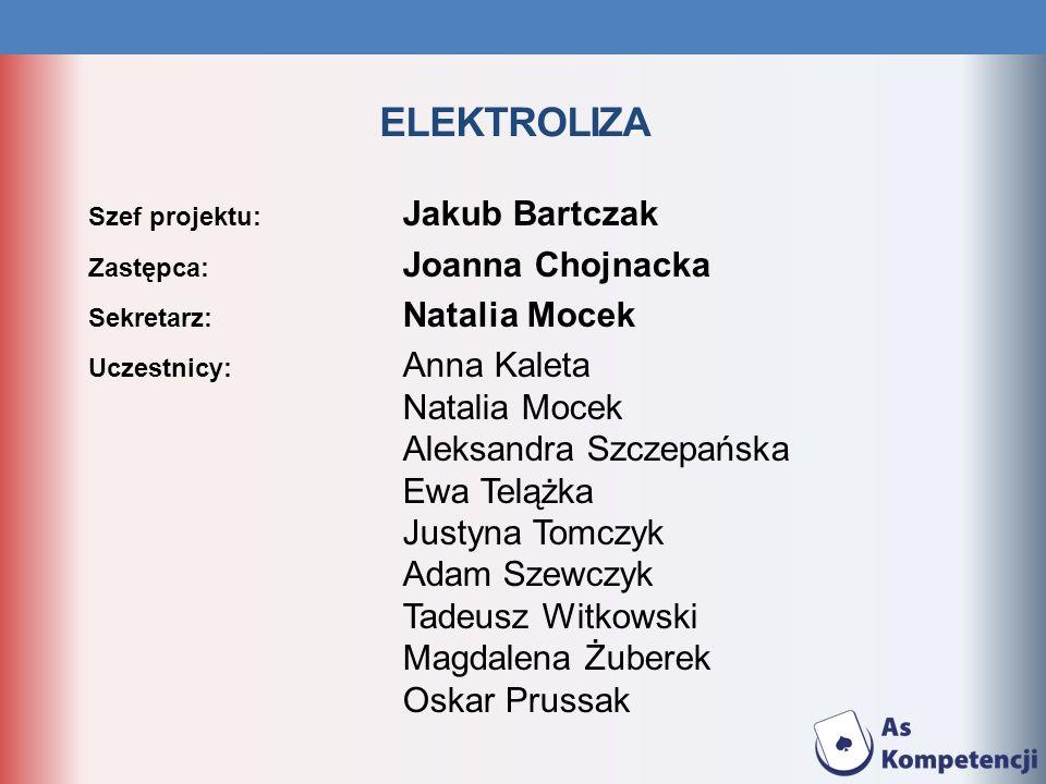 ELEKTROLIZA Natalia Mocek Aleksandra Szczepańska Ewa Telążka