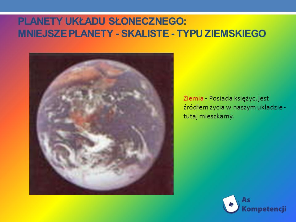 Planety Układu Słonecznego: Mniejsze planety - skaliste - typu ziemskiego