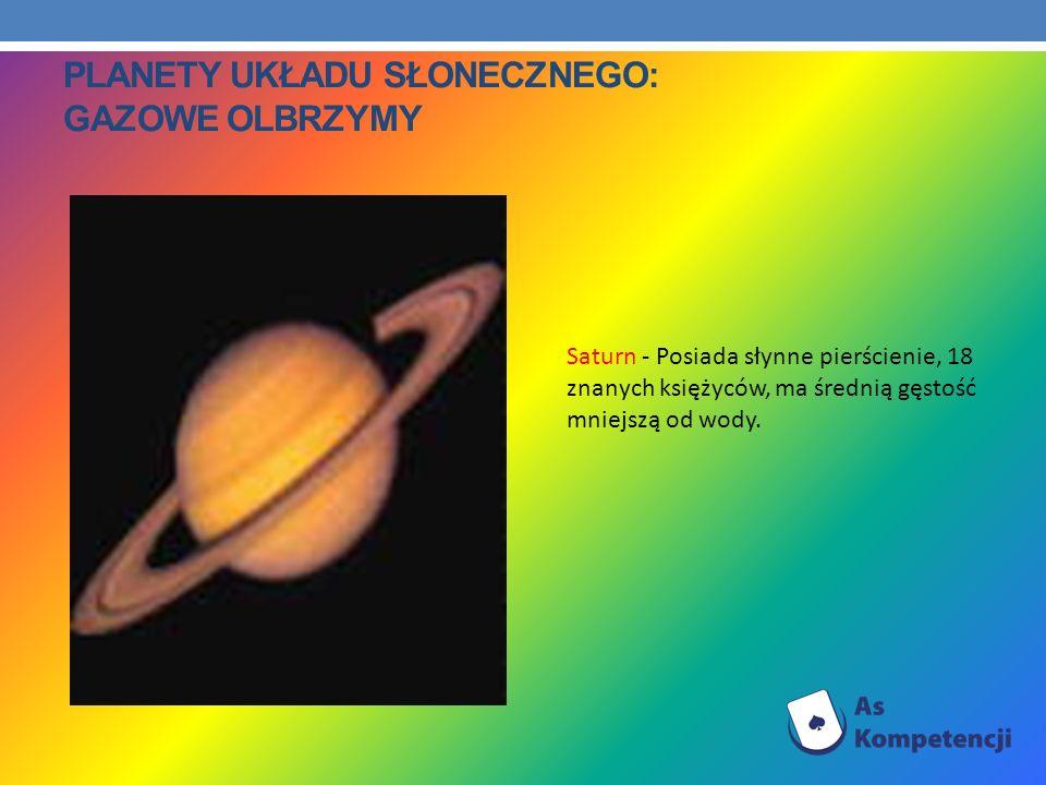 Planety Układu Słonecznego: Gazowe olbrzymy