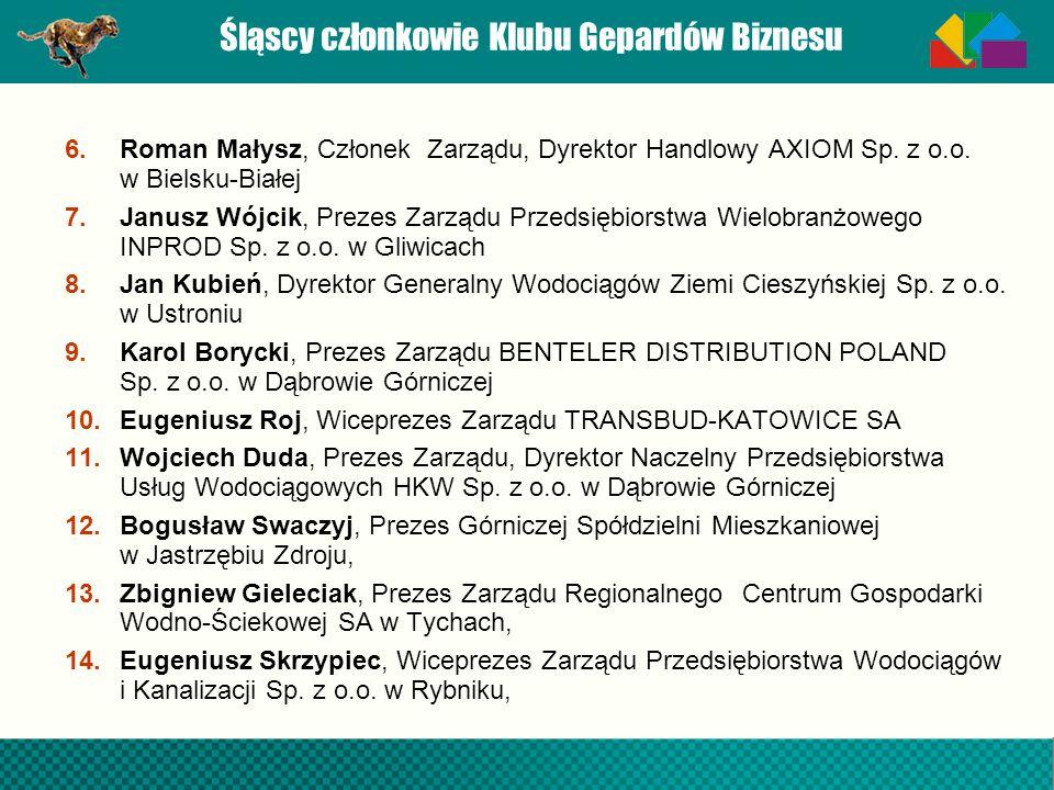 Śląscy członkowie Klubu Gepardów Biznesu