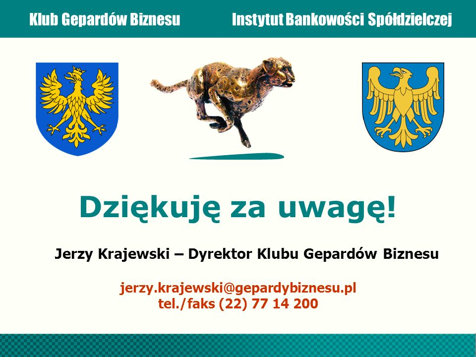 Jerzy Krajewski – Dyrektor Klubu Gepardów Biznesu