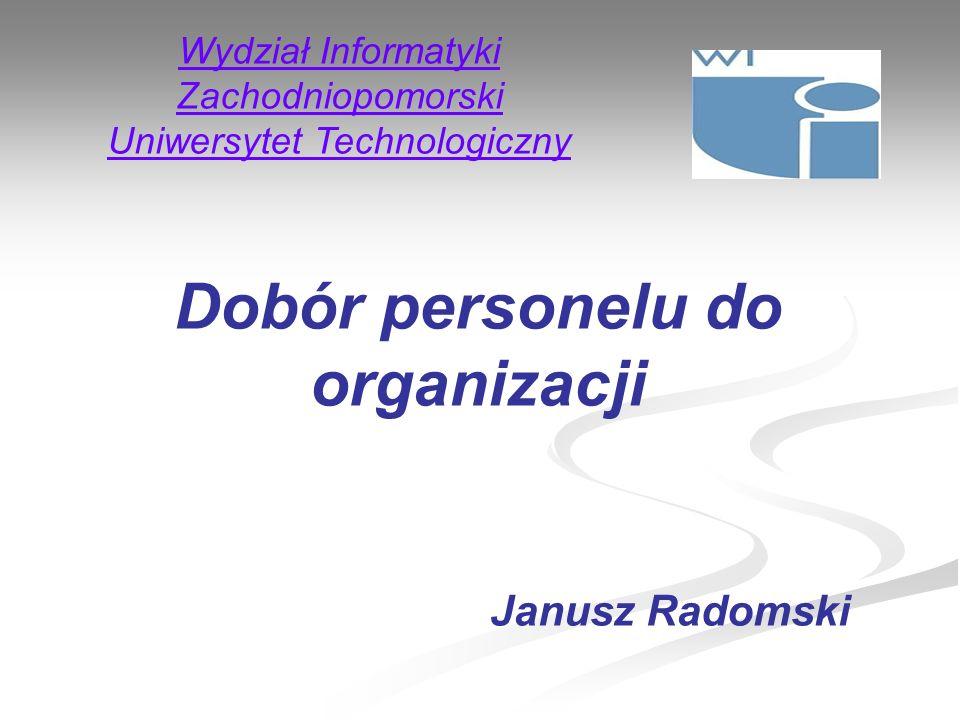 Dobór personelu do organizacji