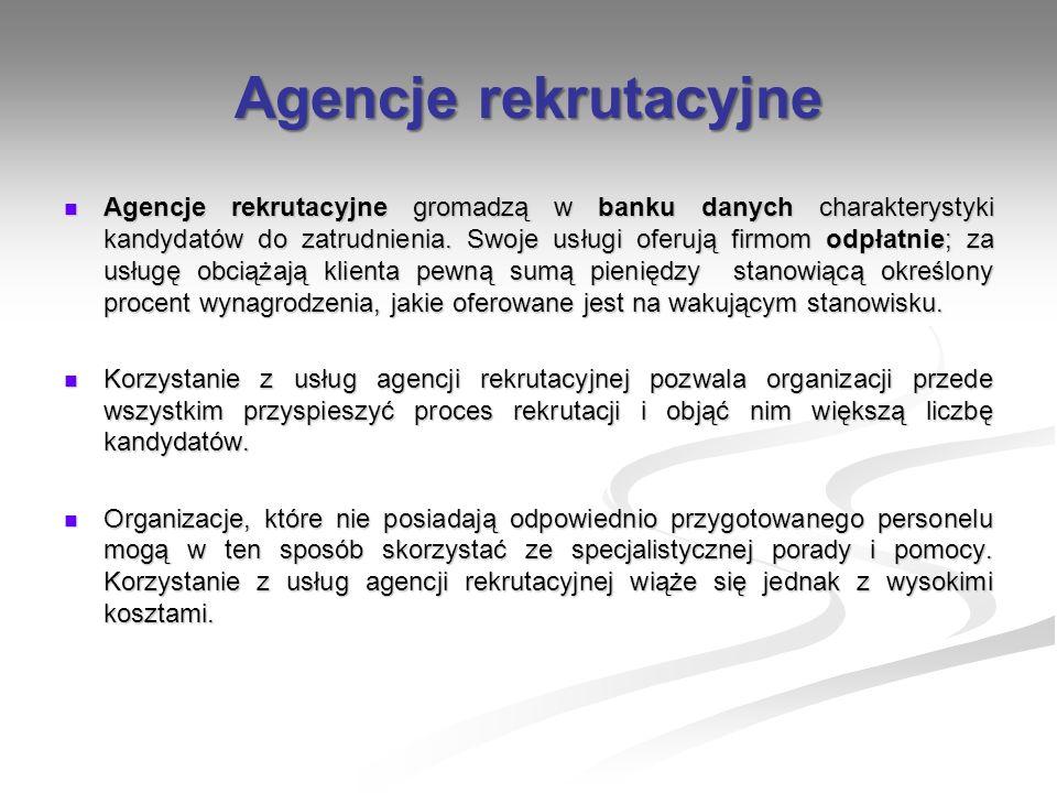 Agencje rekrutacyjne