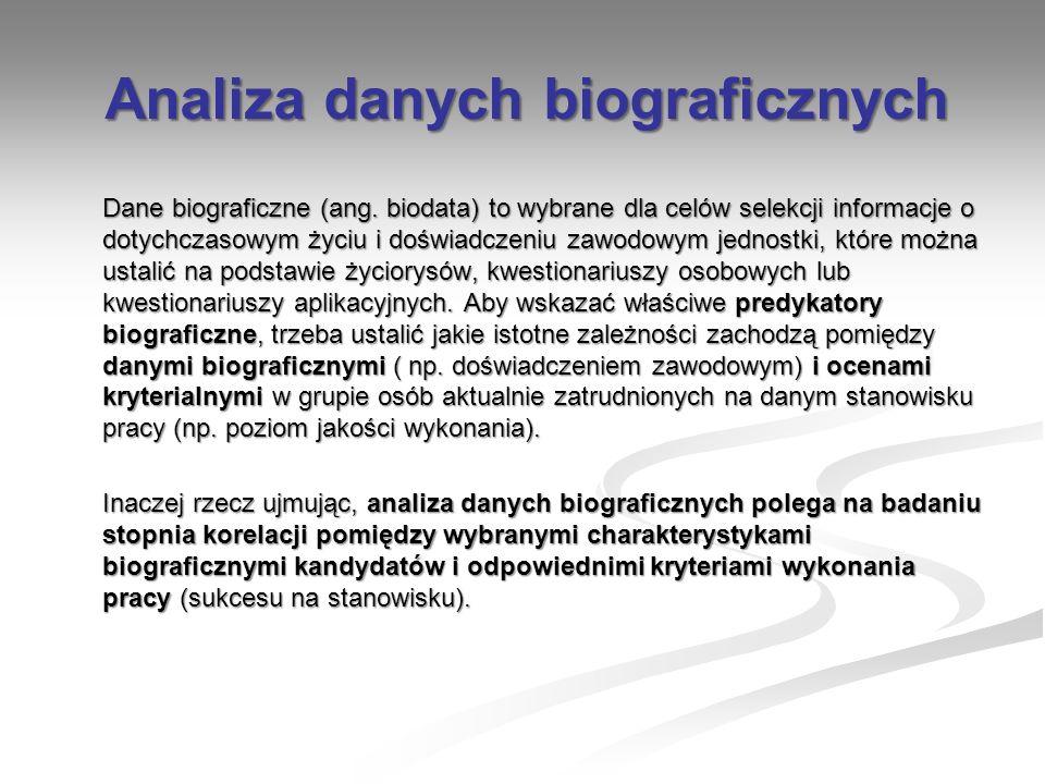 Analiza danych biograficznych