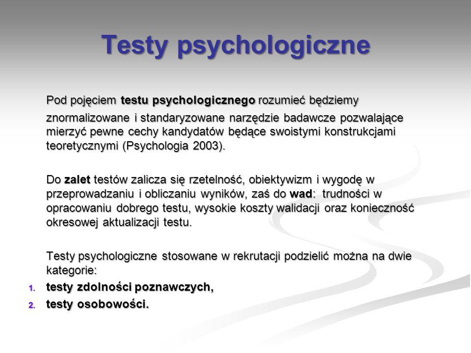 Testy psychologiczne