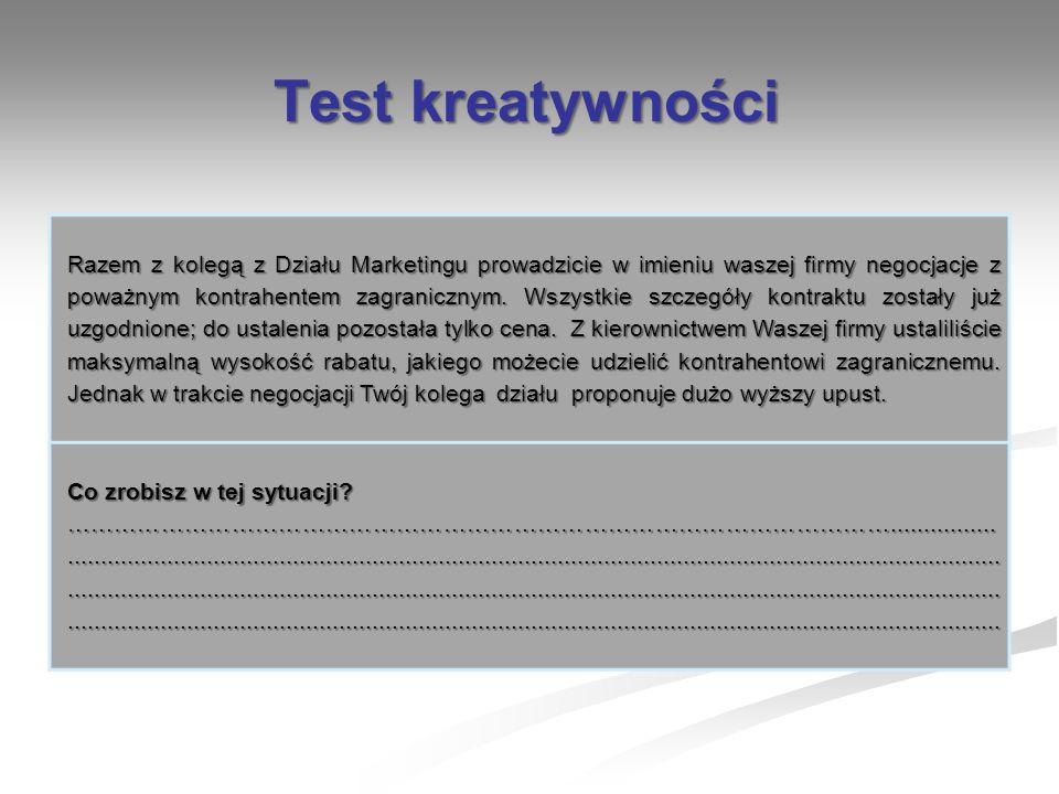 Test kreatywności