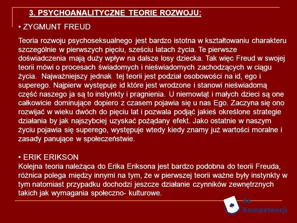 3. PSYCHOANALITYCZNE TEORIE ROZWOJU: ZYGMUNT FREUD