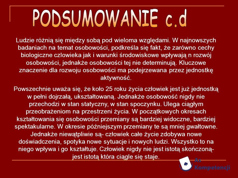 PODSUMOWANIE c.d