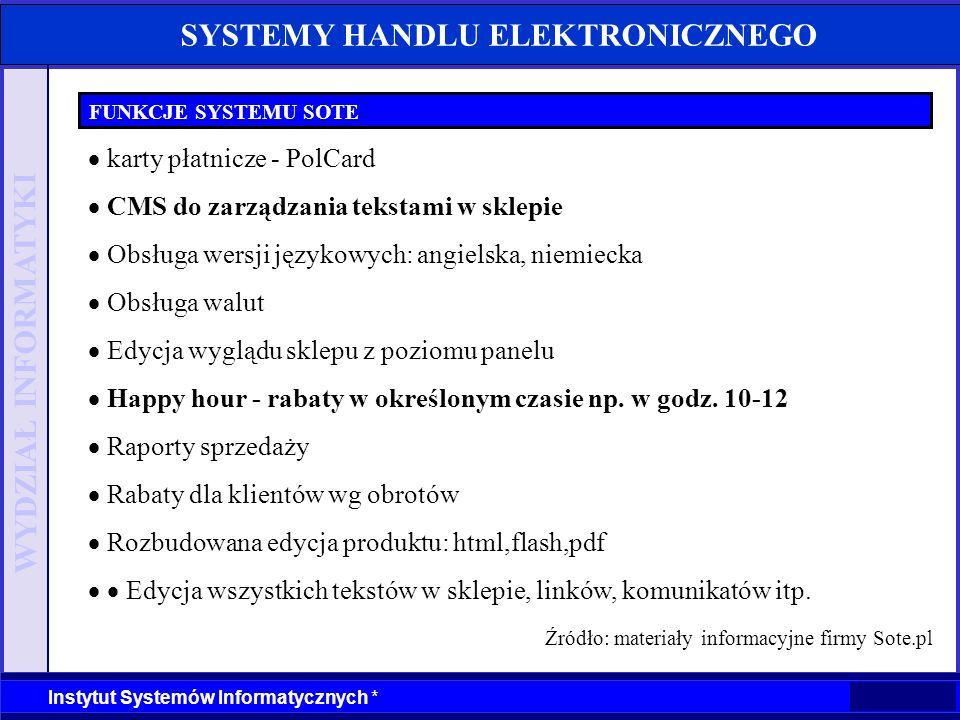 Źródło: materiały informacyjne firmy Sote.pl