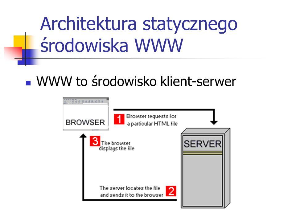 Architektura statycznego środowiska WWW